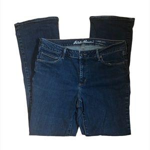 Eddie Bauer Slightly Curvy Dark Wash Jeans Size 12